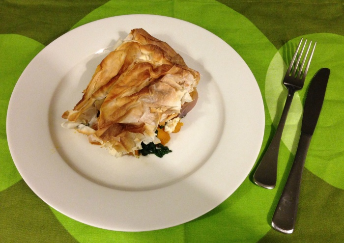 Meatless Monday – Pumpkin, Spinach and Feta Filo Pie