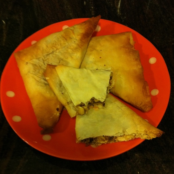 Corn and Feta Samosas