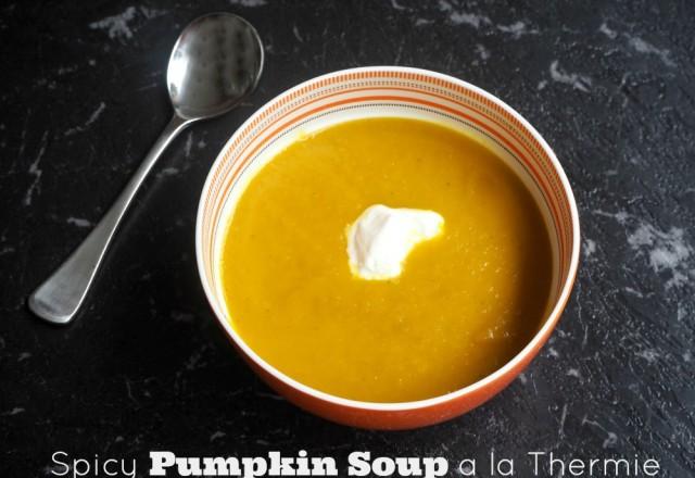 Spicy Pumpkin Soup a la Thermie