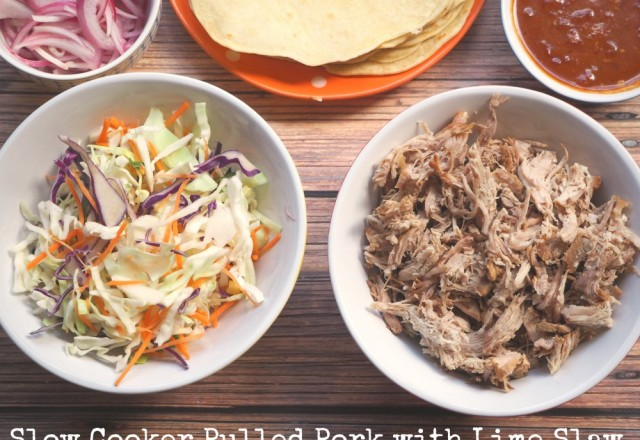 Slow Cooker Pulled Pork with Lime Coleslaw