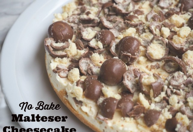 No Bake Malteser Cheesecake