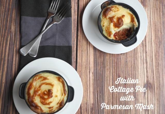 Italian Cottage Pie with Parmesan Mash