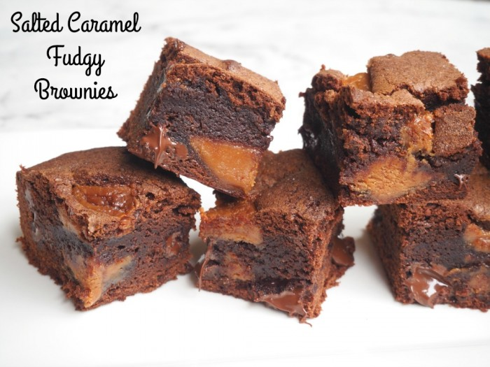 Salted Caramel Fudgey Brownies