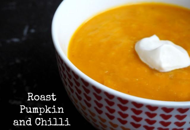 Roast Pumpkin and Chilli Soup