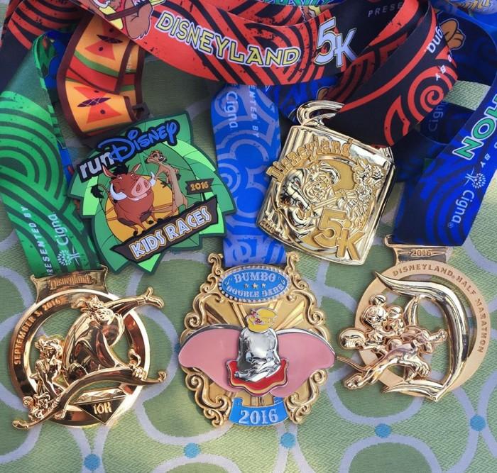 Disney Half Marathon 2016 medals