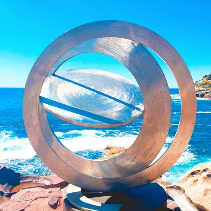 Inge King, Celestial Rings i 2014, Sculpture by the Sea