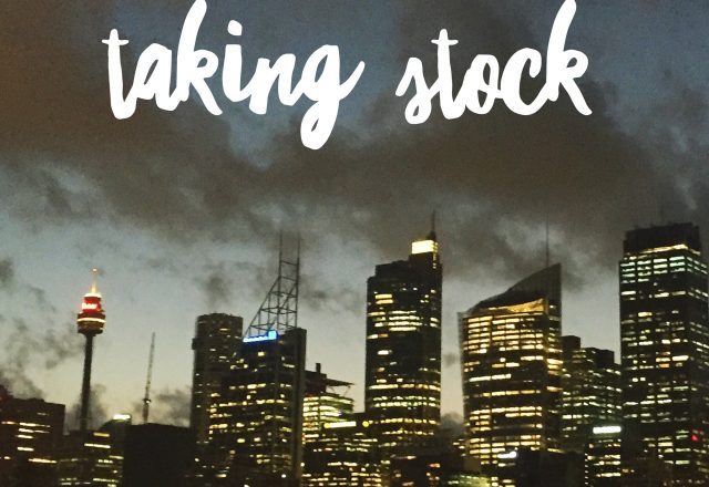Taking Stock – January
