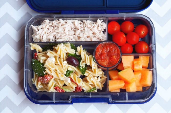 Easy antipasto salad - lunch box