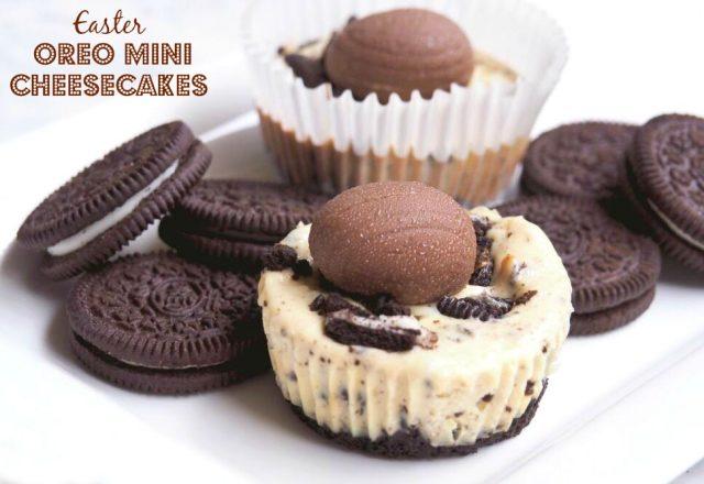 Easter Mini Oreo Cheesecakes
