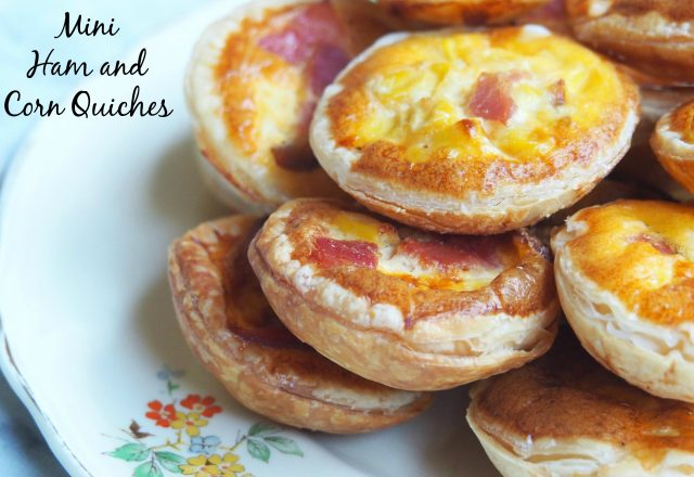 Mini Ham and Corn Quiches