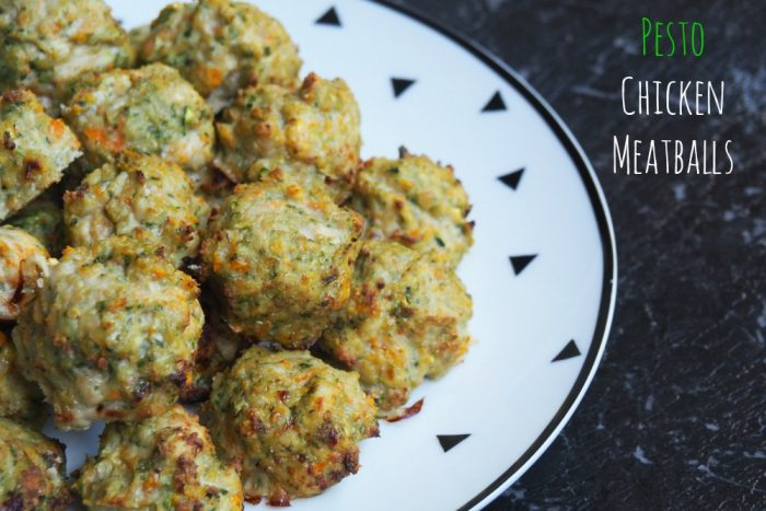 Pesto Chicken Meatballs