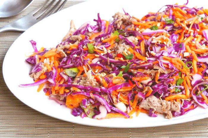 Pulled Pork Asian Salad