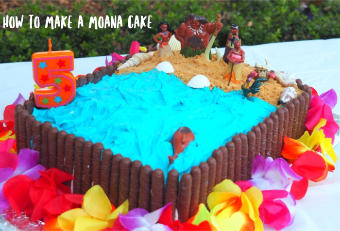 How to make a Moana cake