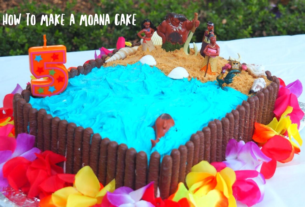 How To Make A Moana Birthday Cake