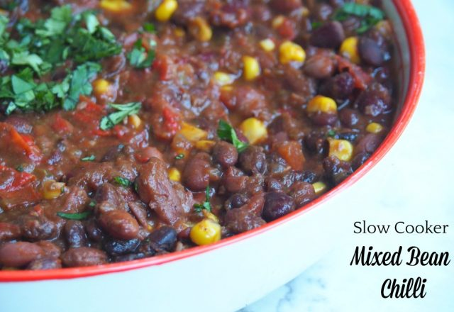 Meatless Monday – Slow Cooker Mixed Bean Chilli