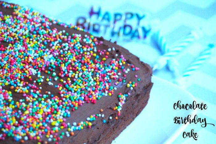 Chocolate Birthday Cake 1