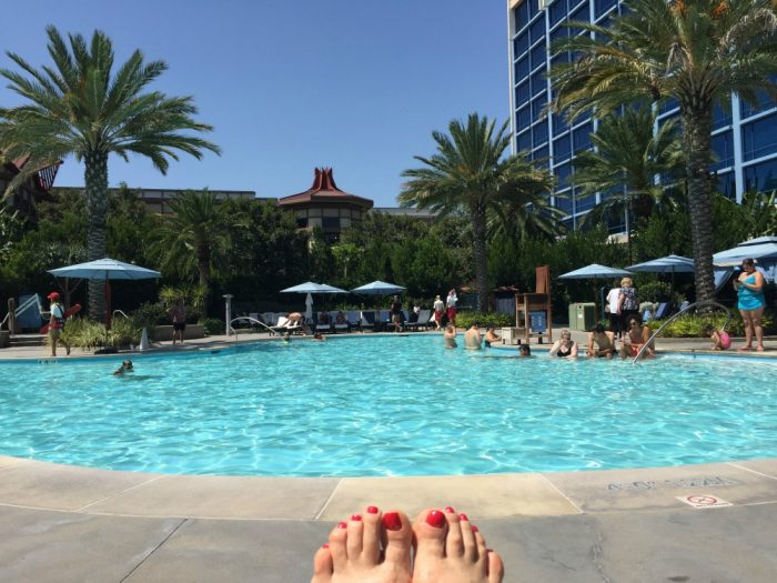 Taking Stock Disneyland Hotel pool
