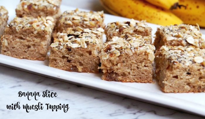 Banana Slice with Muesli Topping