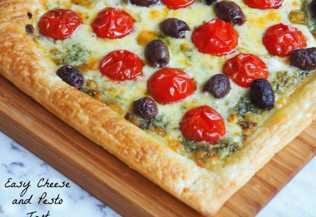 Meatless Monday – Easy Cheese and Pesto Tart