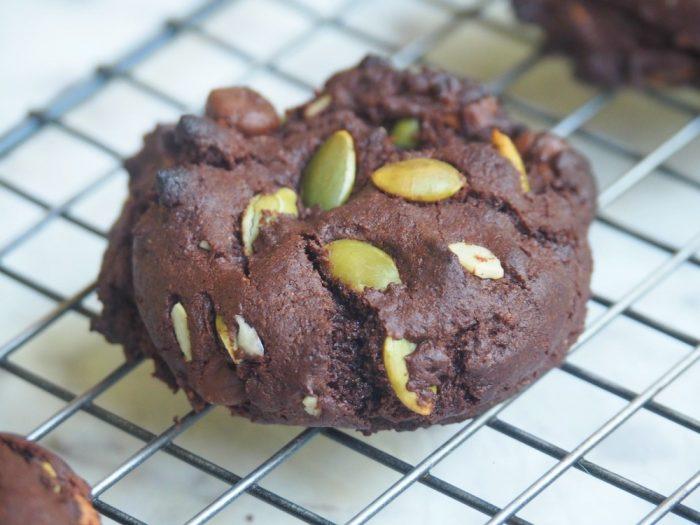 Nigella's Double Chocolate Pumpkin Seed Cookies