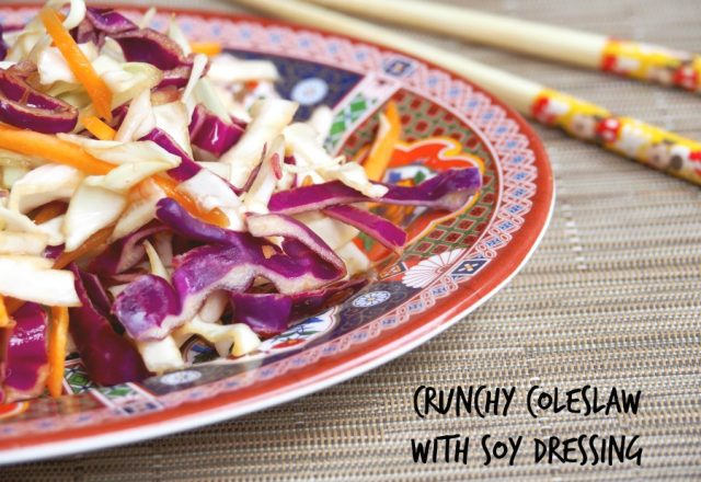 Crunchy Coleslaw with Soy Dressing