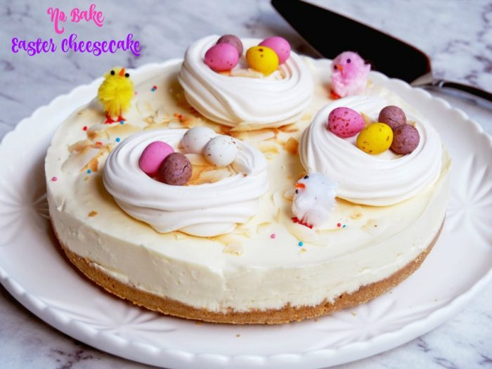 No Bake Easter Cheesecake