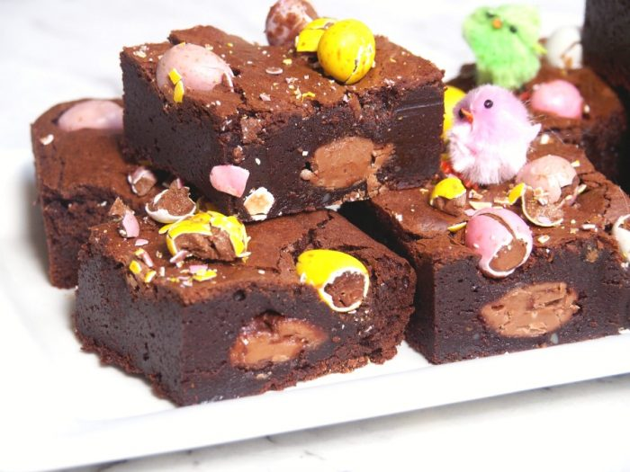 Salted Caramel and Mini Egg Brownies 4