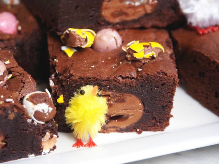 Salted Caramel and Mini Egg Brownies 5
