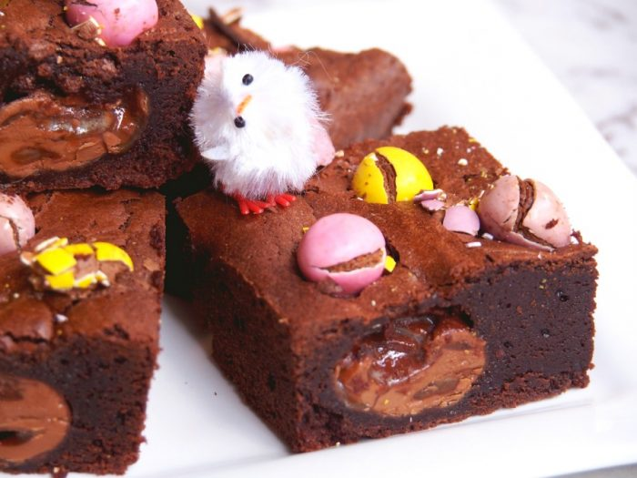 Salted Caramel and Mini Egg Brownies 7