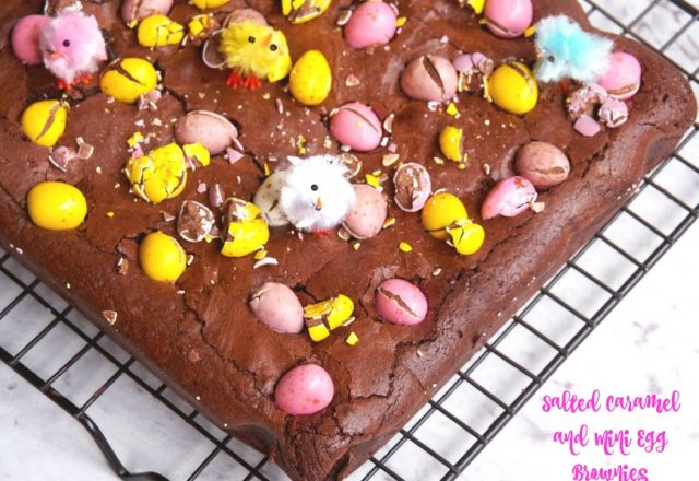 Salted Caramel Mini Egg Brownies
