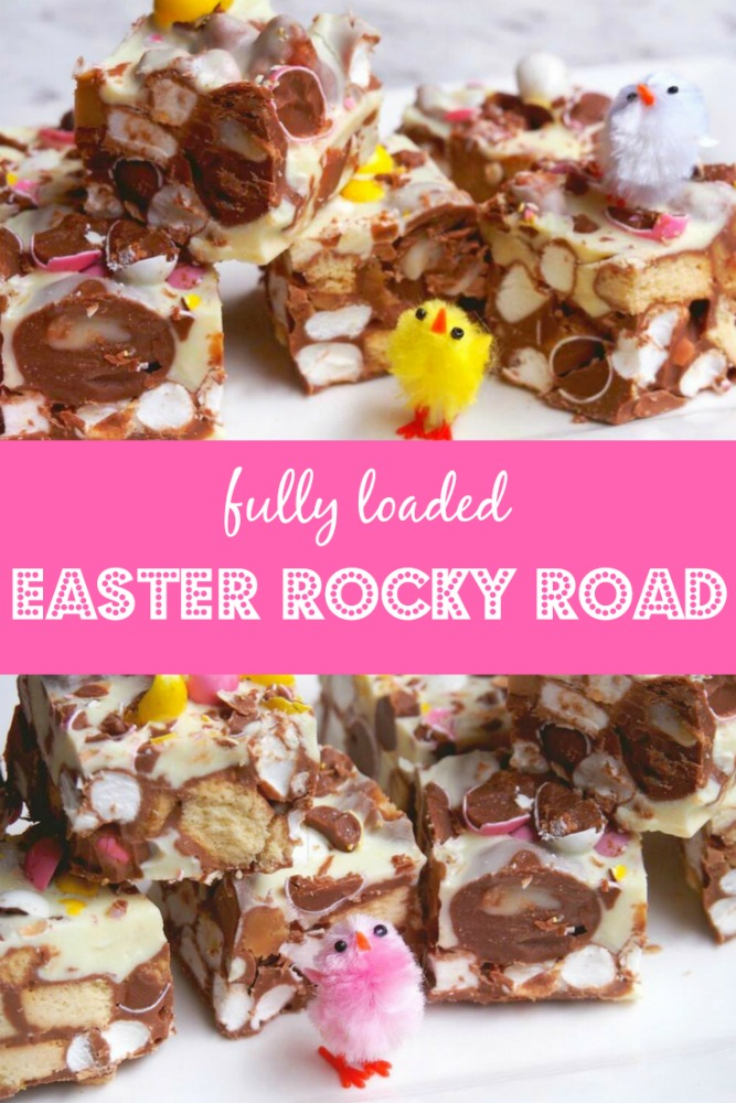 fully loaded easter rocky road