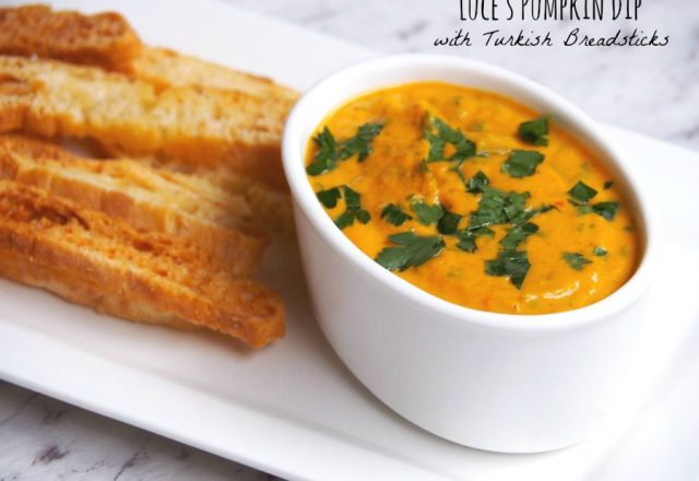 Meatless Monday – Luce's Pumpkin Dip with Turkish Breadsticks