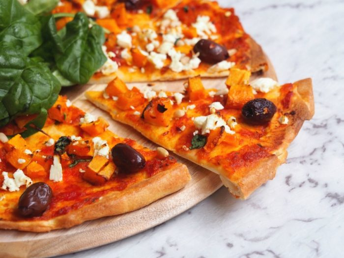 Pumpkin, Feta and Pine Nut Pizza 5