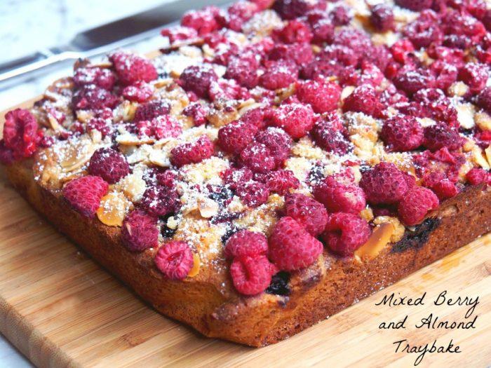 Mixed Berry and Almond Traybake