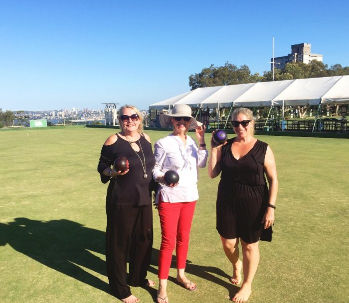 Visitors in Sydney - barefoot bowls