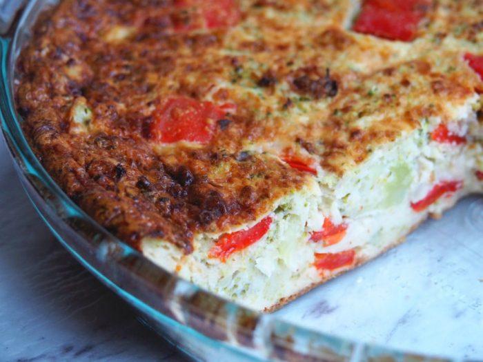 Broccoli and Capsicum Crustless Quiche 5