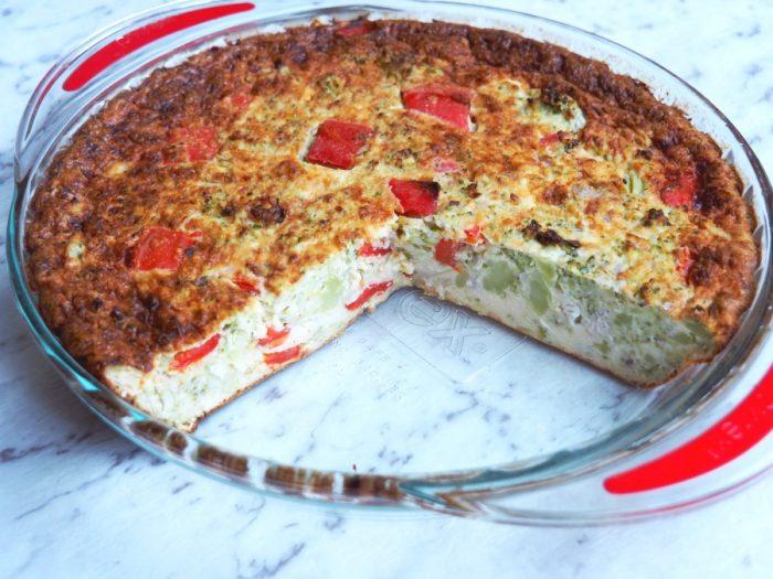 Broccoli and Capsicum Crustless Quiche 6