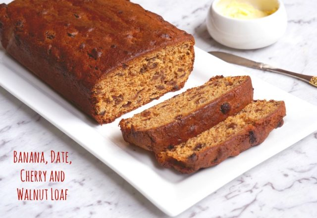 Banana, Date, Cherry and Walnut Loaf
