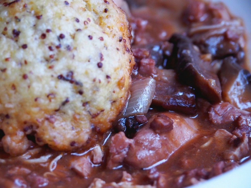 Slow Cooker Chicken and Red Wine Casserole with Dumplings 4