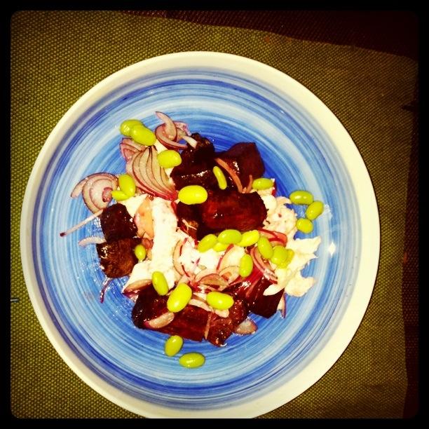 Takashi's Roasted beetroot with Bocconcini