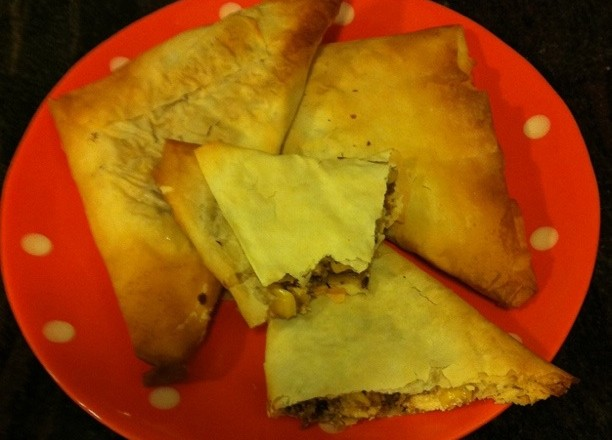 Corn and Fetta Samosas