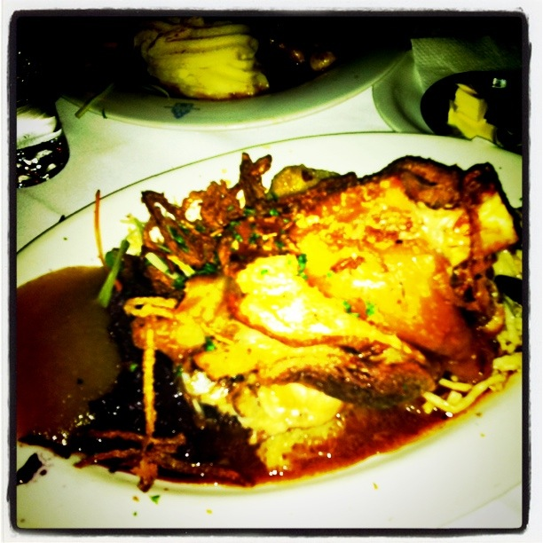 Schweinshaxe - My Roasted Pork Knuckle,  with Sauerkraut, mash and dumplings