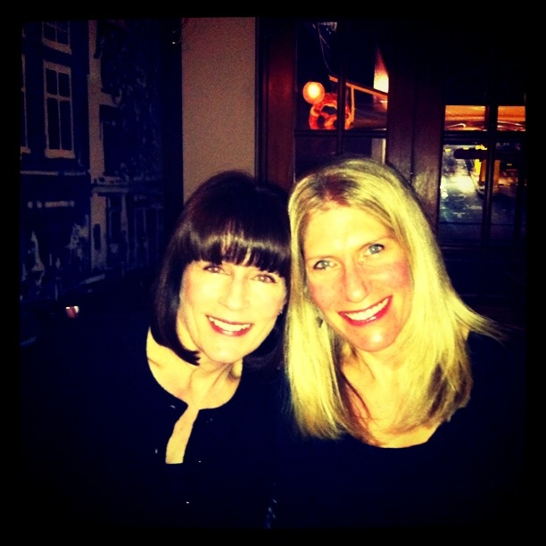 Me and Tracey - we could be sisters!