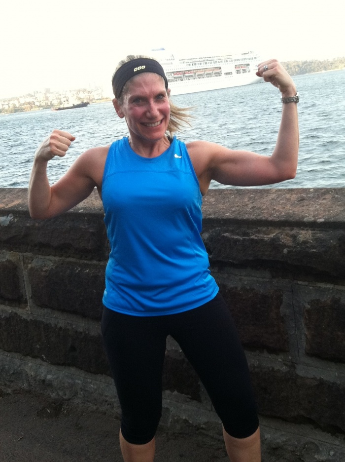 Flexing my half marathon muscles!