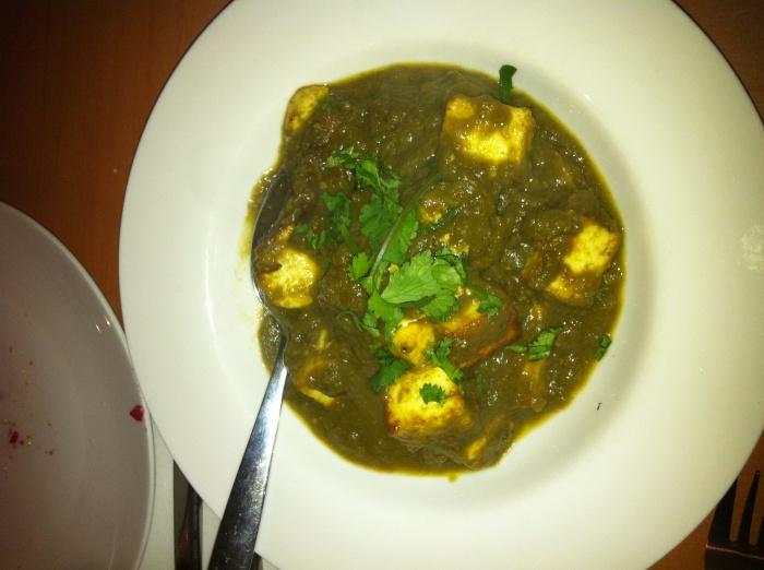 Palak Paneer, Bayleaf Restaurant