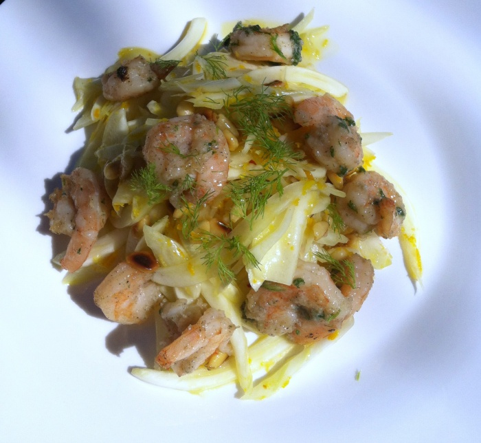 Leda's Fennel, Prawn and Citrus Salad