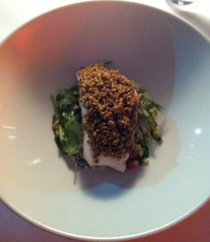 Steamed Snapper and Toasted Walnut Crumble, Universal, Sydney