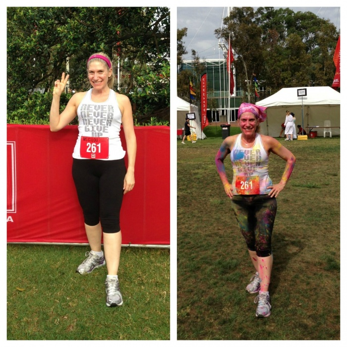 Before and After MS Colour Run 2013