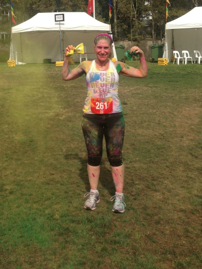 Colouring Myself Australian MS Colour Run 2013
