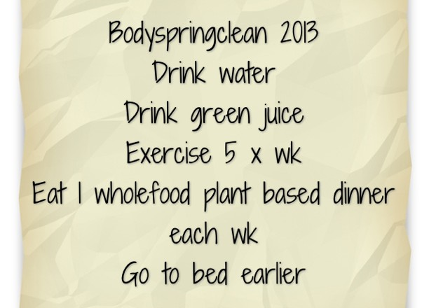 January Body Spring Clean Challenge